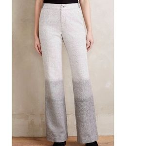Anthropologie Ombre Flare Trousers Pants